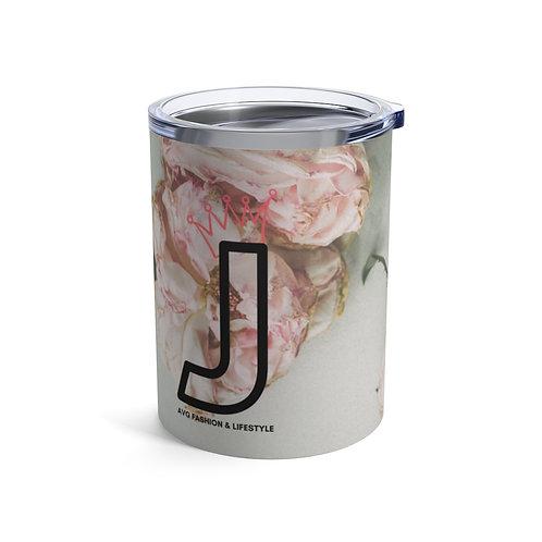 J With Crown Floral Tumbler 10oz