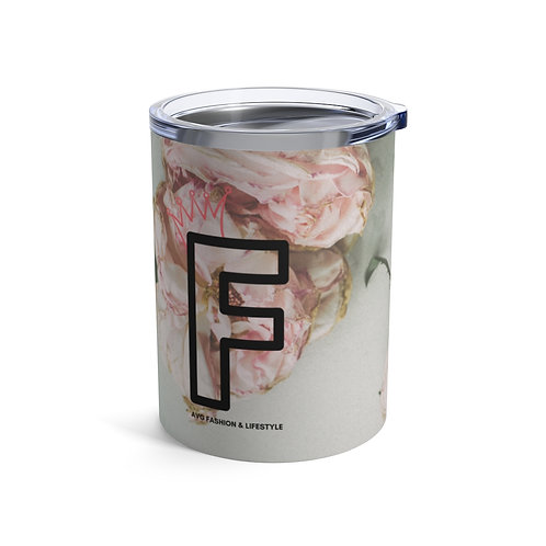 F With Crown Floral Tumbler 10oz