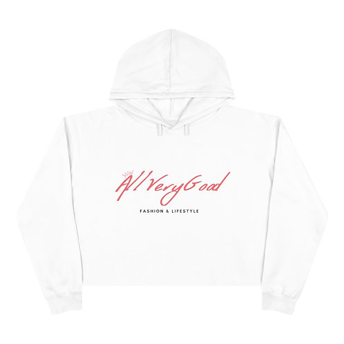 All Very Good Crop Hoodie