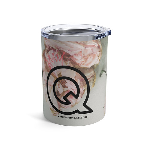 Q With Crown Floral Tumbler 10oz