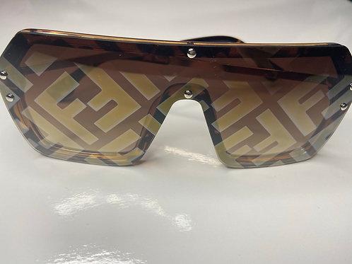 Oversize Sunglasses Brown