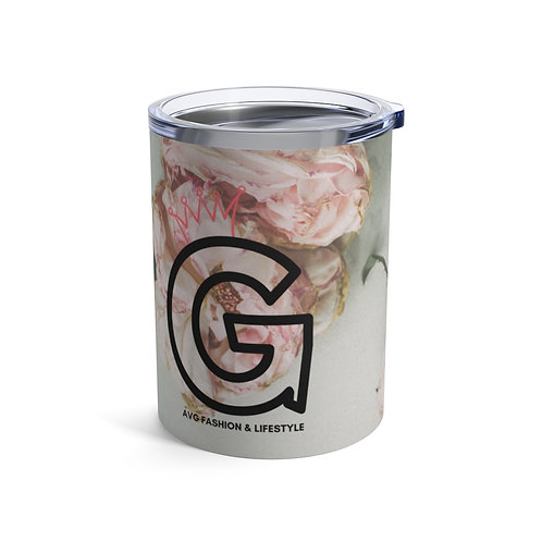 G With Crown Floral Tumbler 10oz
