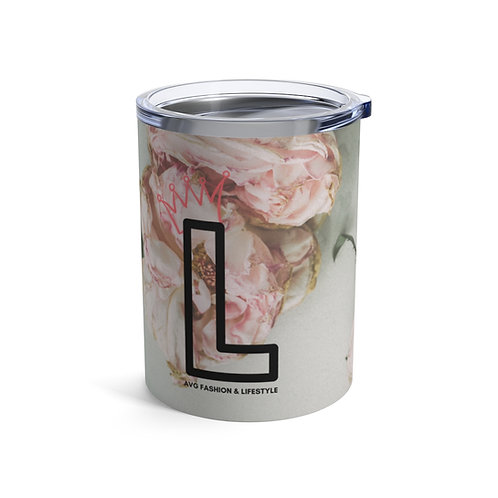 L With Crown Floral Tumbler 10oz
