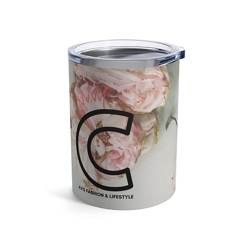 C With Crown Floral Tumbler 10oz