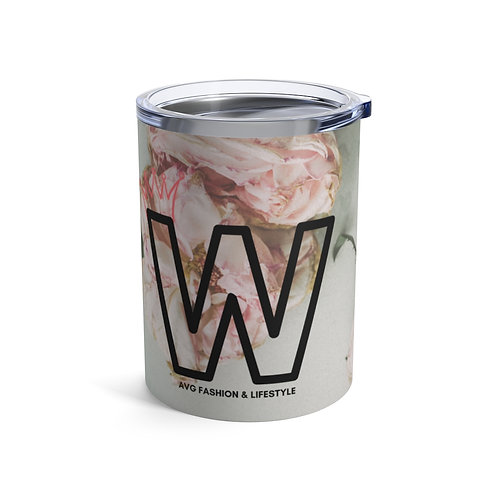 W With Crown Floral Tumbler 10oz