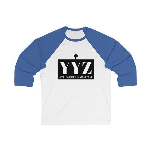 YYZ 3/4 Sleeve Baseball Tee