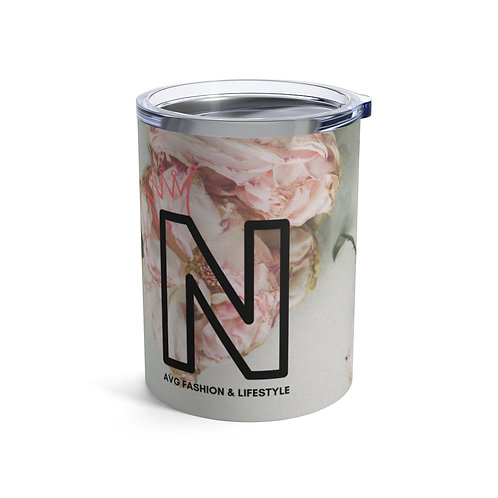 N With Crown Floral Tumbler 10oz