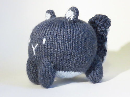 Baozi Baby Squirrel Knitting Pattern