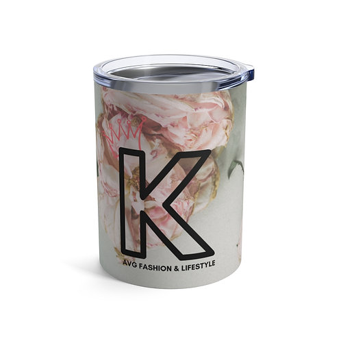K With Crown Floral Tumbler 10oz