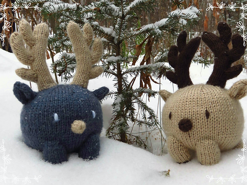 Bun Baby Reindeer Knitting Pattern