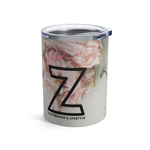 Z With Crown Floral Tumbler 10oz