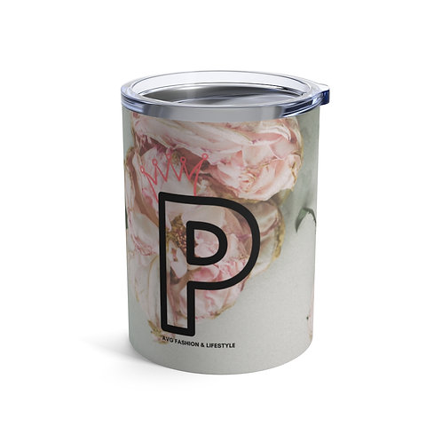 P With Crown Floral Tumbler 10oz