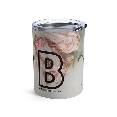 B With Crown Floral Tumbler 10oz