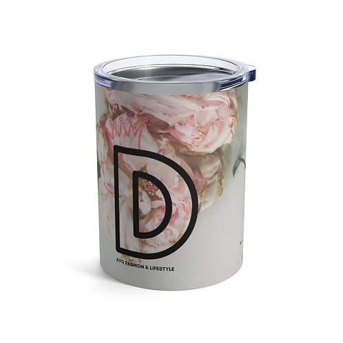D With Crown Floral Tumbler 10oz
