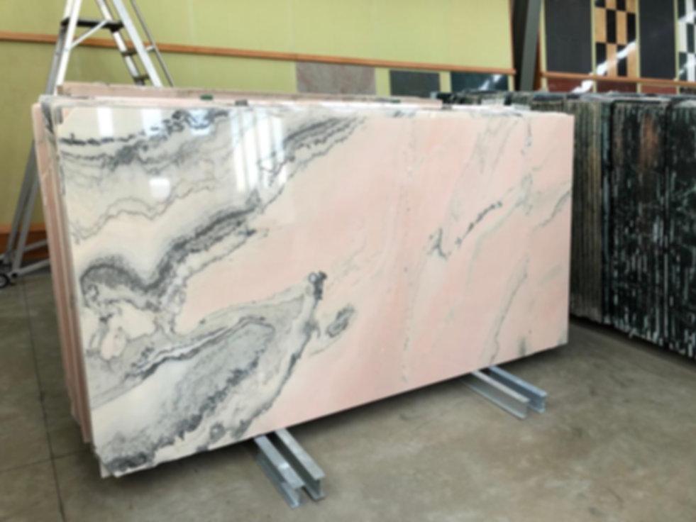 Pizzul - Rosa Portogallo marble slabs.jp