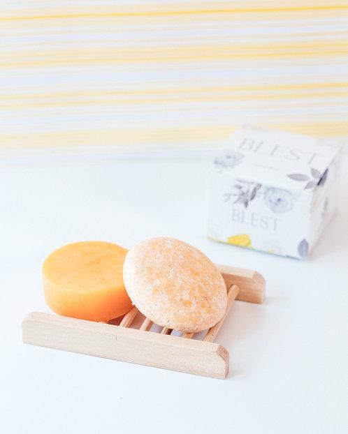 Citrus Shine Shampoo Bar and Conditioner Set