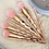 Thumbnail: 10 PIECE VEGAN ROSE GOLD BRUSH SET WITH RAINBOW CASE