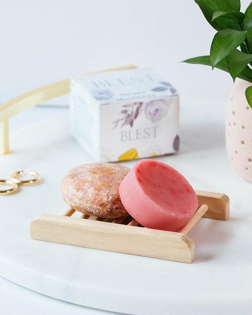 Sweet Magnolia Shampoo Bar and Conditioner Set