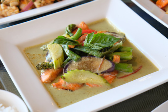 Grilled Salmon with Green Curry