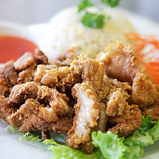 Crispy Pork or Chicken with Fried Rice