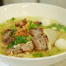 Ba-Mee Moo Dang (Soup or Dry)