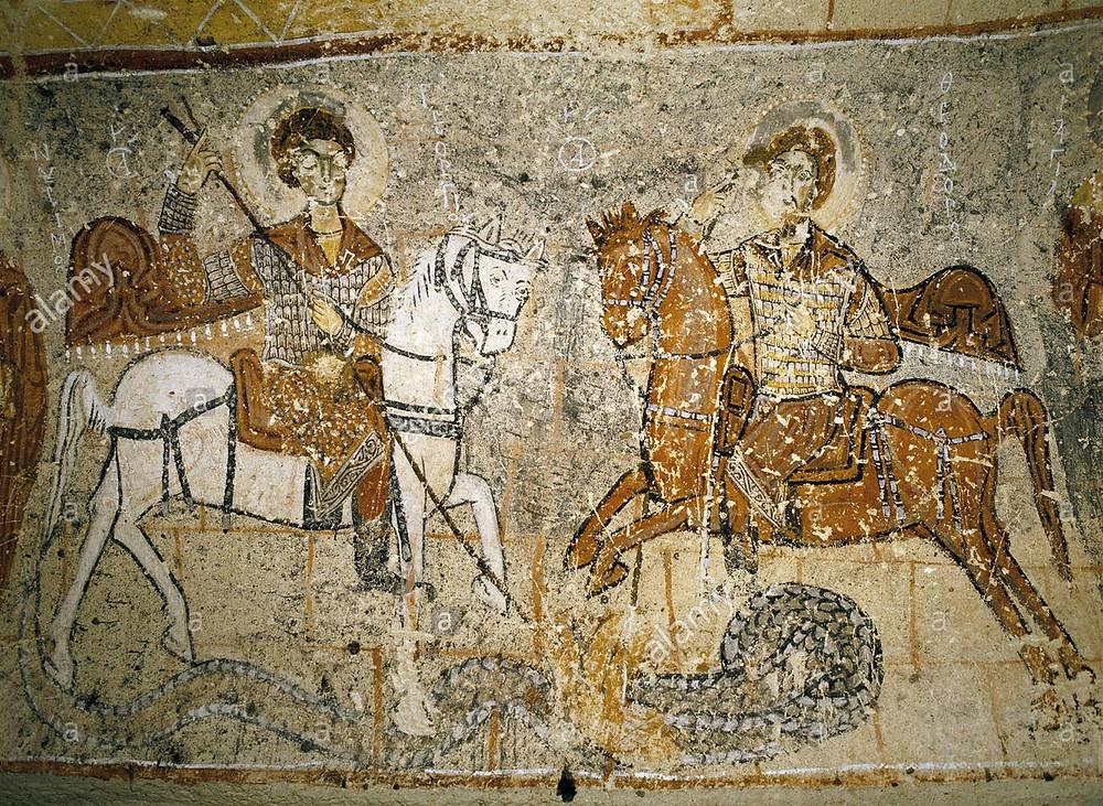 Fresco de la iglesia de San Jorge en Goreme (Turquía)