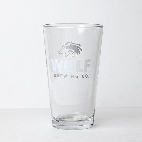 16oz Souvenir Wolf Glass