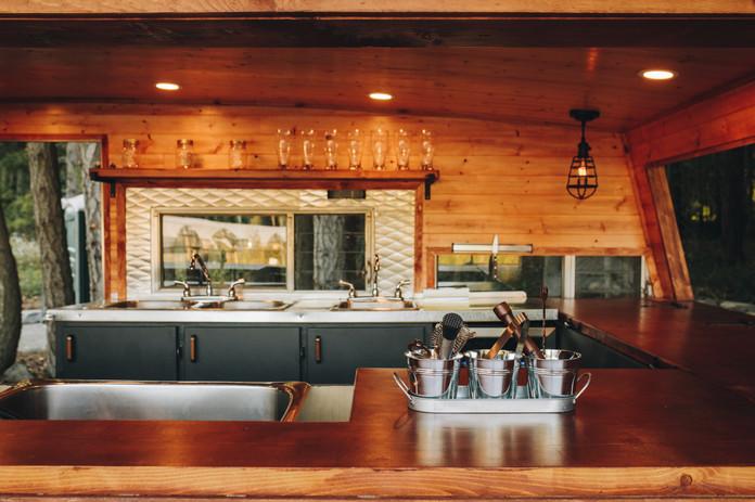 Travel Bar Interior | Vancouver Island BC | Full Mobile Bar