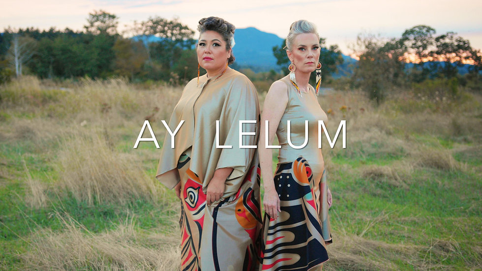 Aunalee & Sofia Good | Ay-Lelum | Custom Coast Salish Clothing | Nanaimo, BC