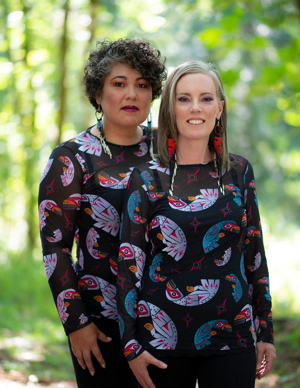 Aunalee & Sofia Good Ay-Lelum | Custom Coast Salish Clothing | Nanaimo, BC