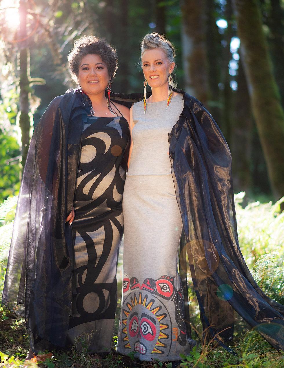 Aunalee & Sofia Good | Custom Coast Salish Clothing | Nanaimo, BC
