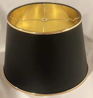 Black and Gold Metallic Lampshade