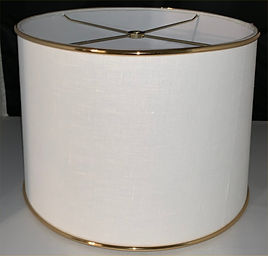 White-Gold Band Lampshade