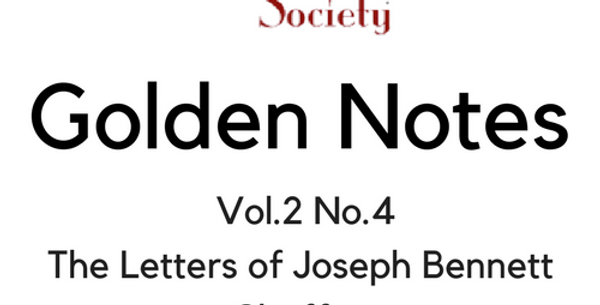 Vol.2 No.4 The Letters of Joseph Bennett Chaffee (Digital Copy)