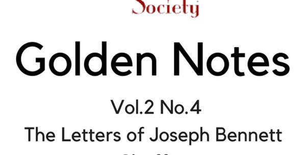 Vol.2 No.4 The Letters of Joseph Bennett Chaffee (Digital Copy)