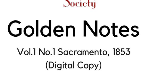 Vol.1 No.1 Sacramento, 1853 (Digital Copy)