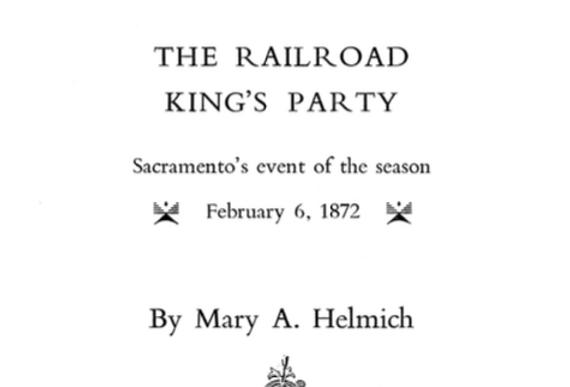 Vol.35 No.4 The Railroad King's Party (Print Copy)