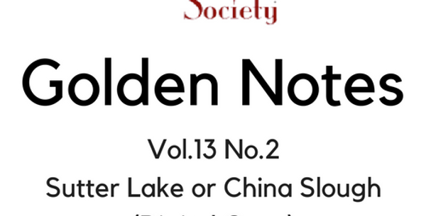 Vol.13 No.2 Sutter Lake or China Slough (Digital Copy)