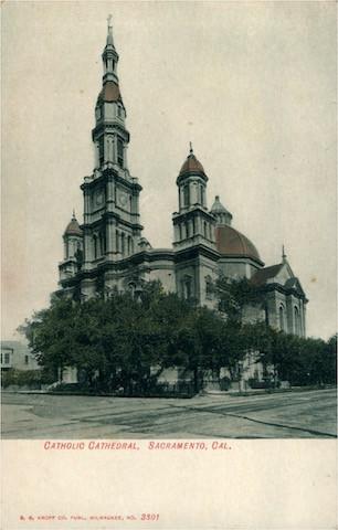 Catholic Cathedral, Sacramento, California. No. 3301