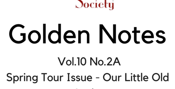 Vol.10 No.2A Spring Tour Issue - Our Little Old Lady (Digital Copy)