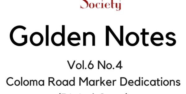 Vol.6 No.4 Coloma Road Marker Dedications (Digital Copy)