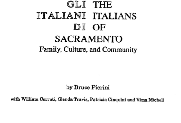 Vol.37 No.2 The Italians of Sacramento (Print Copy)