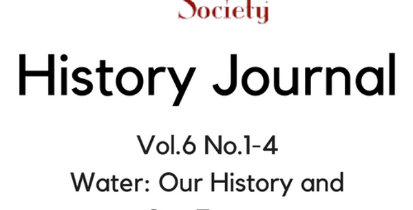 Vol.6 No.1-4 Water: Our History and Our Future (Digital Copy)
