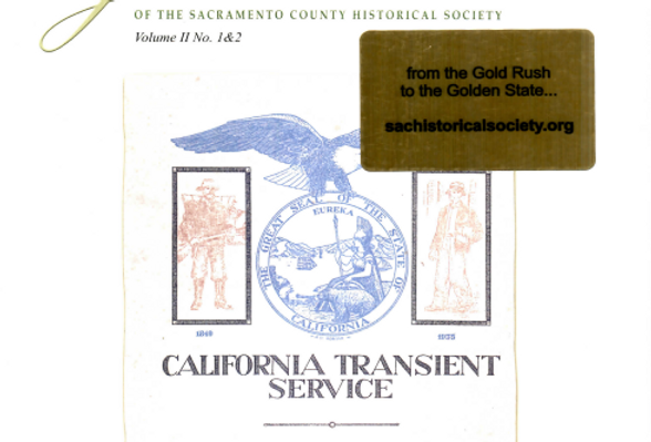 Vol.2 No.1 & 2 California Transient Service (Print Copy)