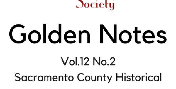 Vol.12 No.2 SCHS: History & Sacramento Firsts (Digital Copy)