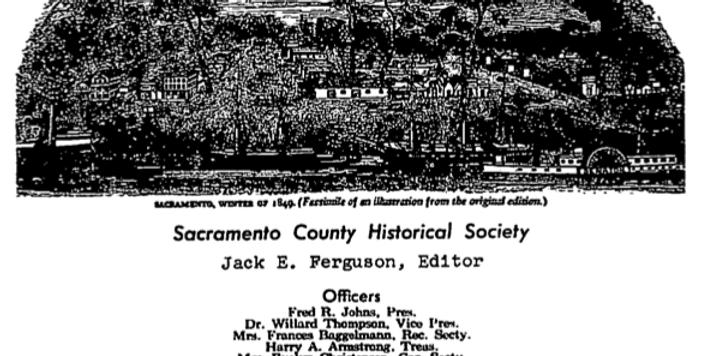 Vol.8 No.4 California Justice: Sacramento's First Murder Trial (Print Copy)