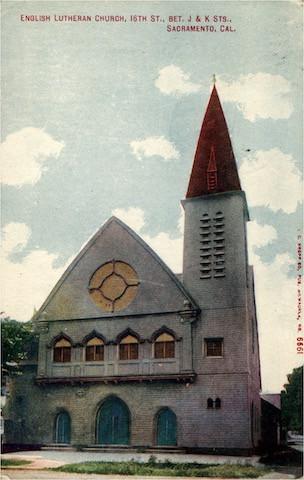 English Lutheran Church, 16th St., BET. J & K Sts., Sacramento, California.  No. 6661