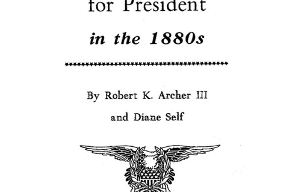 Vol.34 No.3 Sacramento Votes for President (Print Copy)