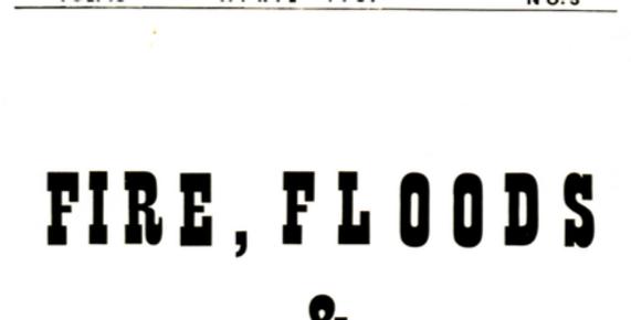 Vol.13 No.3 Fire, Floods & Hoboken (Print Copy)