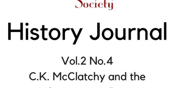 Vol.2 No.4 C.K. McClatchy and the Sacramento Bee (Digital Copy)